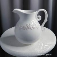 Белый кувшин керамика