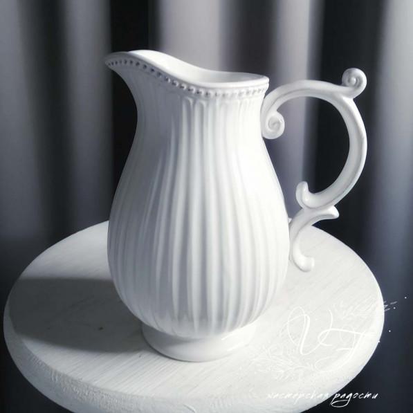 Кувшин белый керамика №1