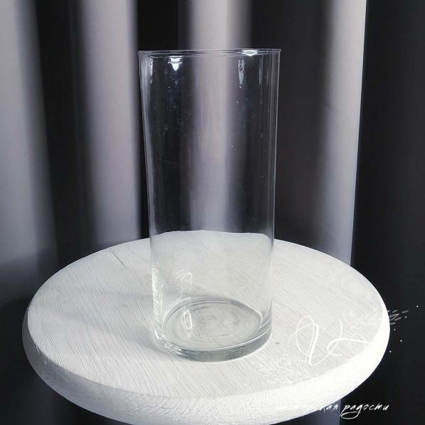 Ваза трубка стекло