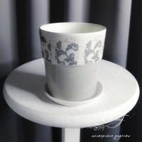 Цветочный горшок керамика РОКОКО