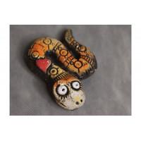 Змейка с сердечком керамика