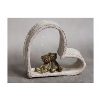 Сердце керамика с влюбленными мишками