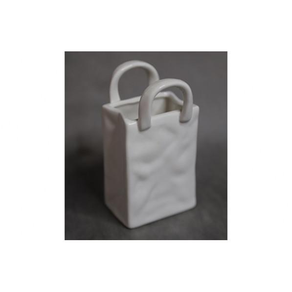 Керамическая ваза сумочка