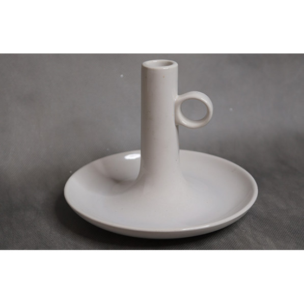 Подставка для свечи белая керамика