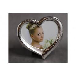 Фото рамка сердце со стразами 7*8 см