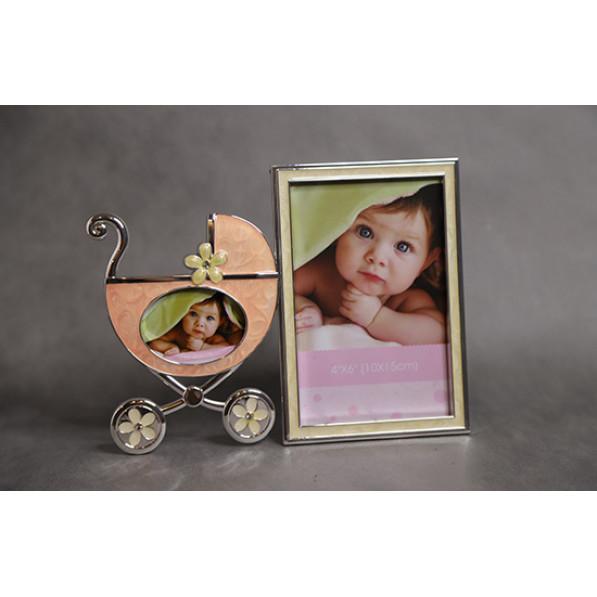 Фоторамка детская коляска для фото со стразами (22*2*17)