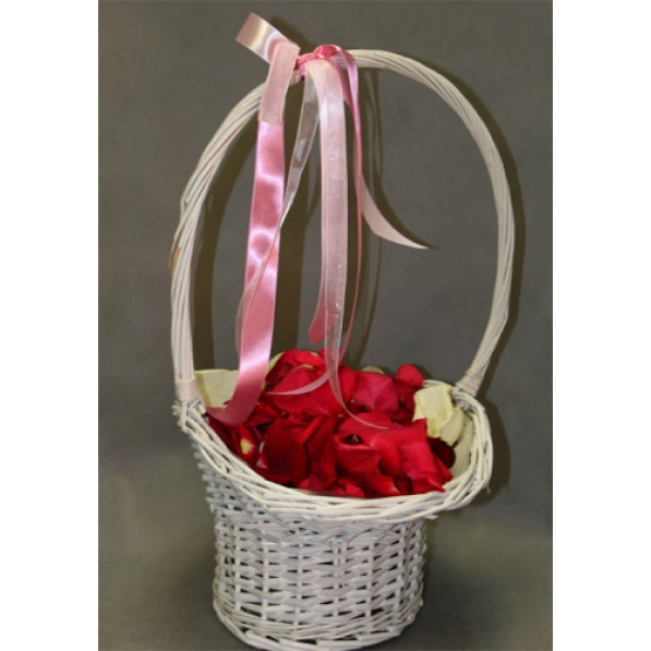 Свадебный аксессуар Корзина с лепестками роз