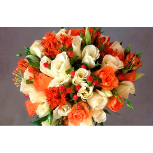 """Букет невесты """"Солнечные розы"""""""