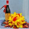 Оформление алкоголя цветами