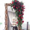 Оформление зеркала цветами
