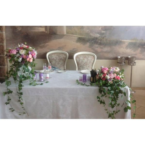 """Композиция на стол жениха и невесты """"Маленькая Италия"""""""